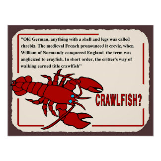 Crawfish History, what's the name from? Poster