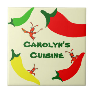Crawfish Hot Pepper Personalized Tile