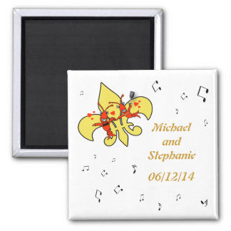 Crawfish in Love Fleur de Lis Save the Date Magnet