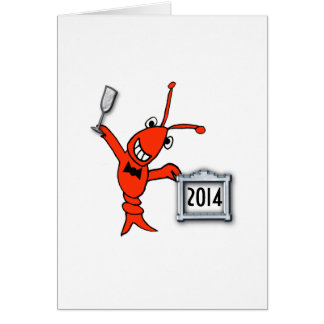 Crawfish / Lobster New Year Cheers Card