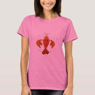 Crawfish or Lobster Fleur De Lis T-Shirt