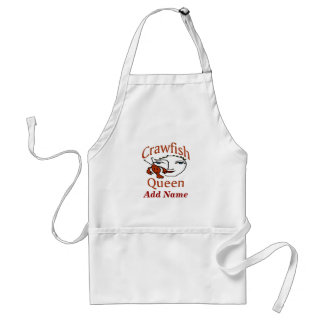 Crawfish Queen Apron, add name Standard Apron