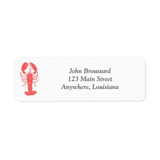 Crawfish Return Address Label