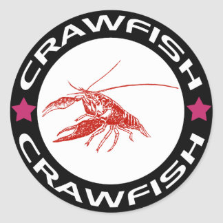 crawfish-ring (red-1) classic round sticker