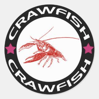 crawfish-ring (red-1) round sticker
