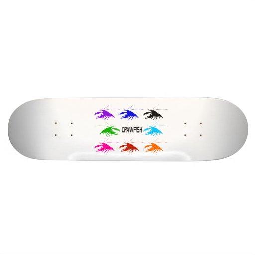 crawfish skateboard deck