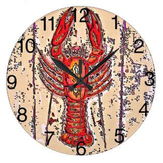 Crawfish Time, Crayfish,Lobster Large Clock
