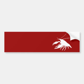 crawfish's silhouette (White) Bumper Sticker