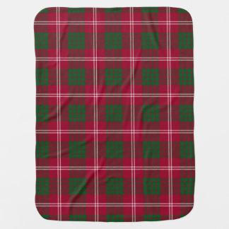 Crawford Clan Tartan Plaid Pattern Baby Blanket