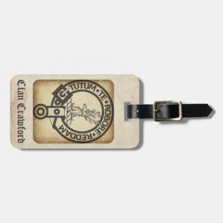 Crawford Crest Badge Antique Luggage Tag
