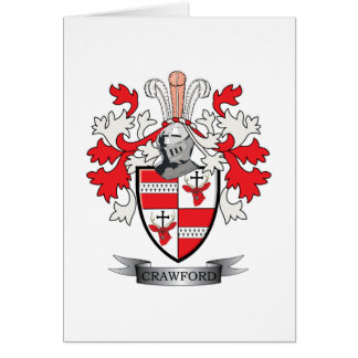 Crawford Family Crest Coat of Arms Card