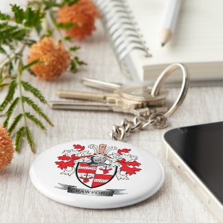 Crawford Family Crest Coat of Arms Keychain