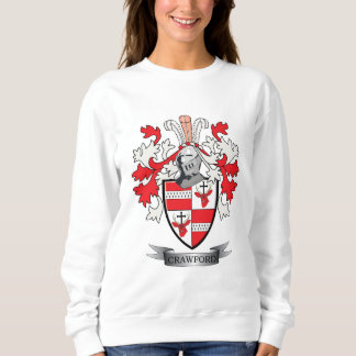 Crawford Family Crest Coat of Arms Sweatshirt