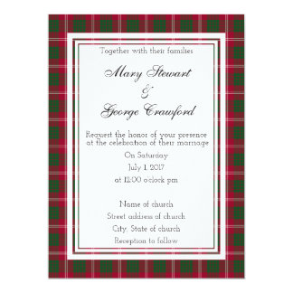 Crawford Scottish Wedding Wine Label Card