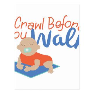 Crawl Before Walk Postcard