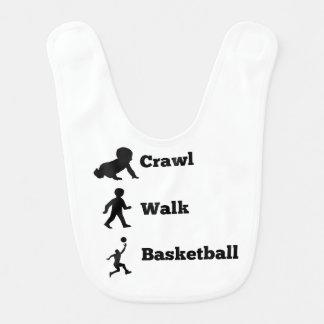 Crawl Walk Basketball Baby Bibs