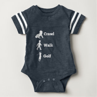 Crawl Walk Golf Baby Bodysuit