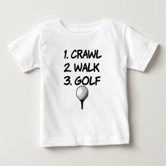Crawl Walk Golf funny baby boy shirt