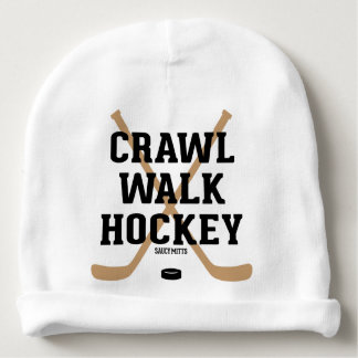 Crawl Walk Hockey Cute Baby Infant Baby Beanie