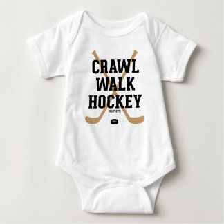 Crawl Walk Hockey Sticks Baby Infant Bodysuit