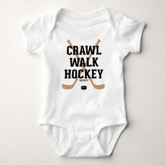 Crawl Walk Hockey Sticks Baby Infant Bodysuit