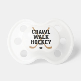 Crawl Walk Hockey Sticks Baby Pacifier
