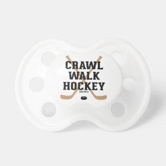 Crawl Walk Hockey Sticks Baby Pacifier