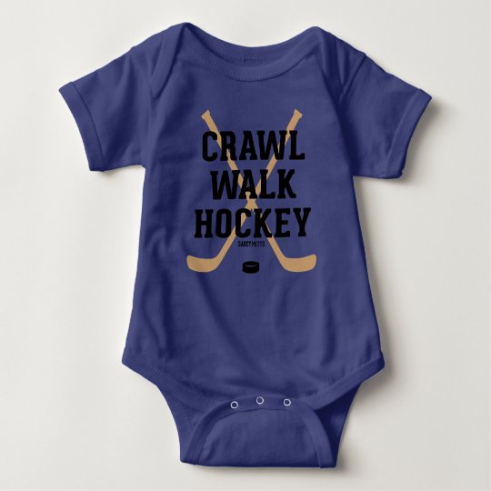 Crawl Walk Hockey Sticks Cute Baby Infant Bodysuit