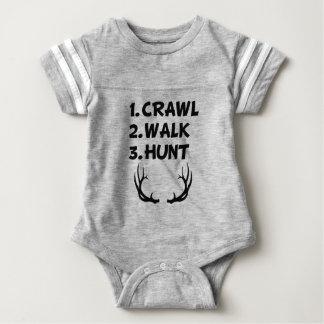 Crawl Walk Hunt baby boy shirt