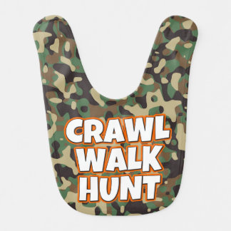 Crawl Walk Hunt Camo Baby Bib