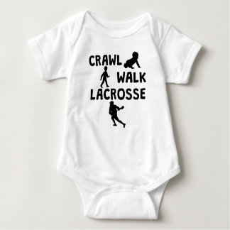 Crawl Walk Lacrosse Baby Bodysuit