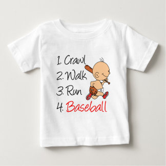 Crawl Walk Run Baseball Baby T-Shirt