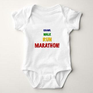 Crawl Walk Run Marathon Baby Bodysuit