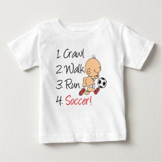Crawl Walk Run Soccer Baby T-Shirt