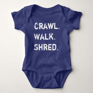 Crawl, Walk, Shred Baby Baby Bodysuit