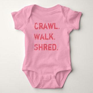 Crawl, Walk, Shred for Baby Baby Bodysuit