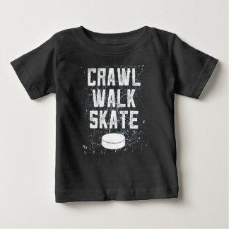 CRAWL WALK SKATE ice hockey baby t-shirt gift