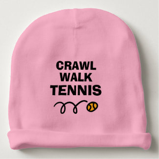 CRAWL WALK TENNIS ball baby beanie hat