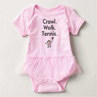 Crawl Walk Tennis Girl Baby Bodysuit