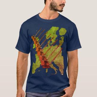 Crawler Crane Map of Europe Operating Engineer T-Shirt