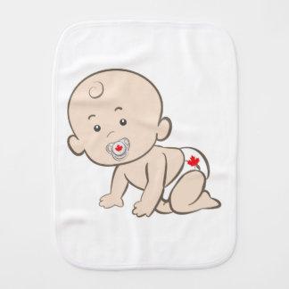 Crawling Baby Canadian Burp Cloth