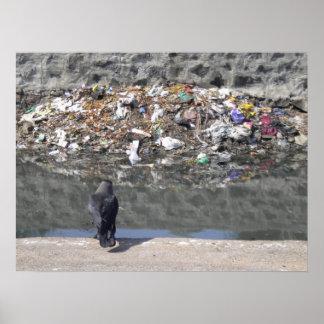 Craw's focus on garbage poster