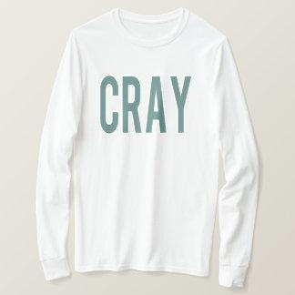 Cray White LS Tee Green