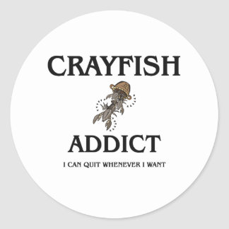 Crayfish Addict Round Sticker