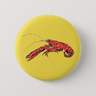 Crayfish Louisiana 2 Inch Round Button