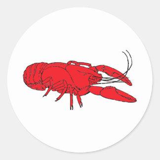 crayfish round sticker