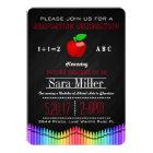 Crayon & Apple Teacher Graduation Invitation