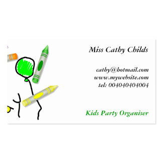 Crayon Birthday Greeting, Double-Sided Standard Business Cards (Pack Of 100)