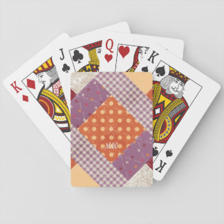 Crayon Box Patchwork Print Playing Cards