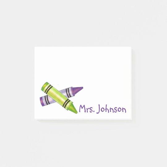 Crayon Crayons Art Teacher Gift Post-It Notes